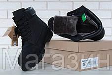 Мужские зимние ботинки Timberland Classic 6 inch Winter Black зимние Тимберленд С НАТУРАЛЬНЫМ МЕХОМ черные, фото 3