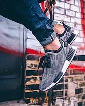 Мужские кроссовки Adidas NMD Runner (Адидас НМД) серые, фото 3