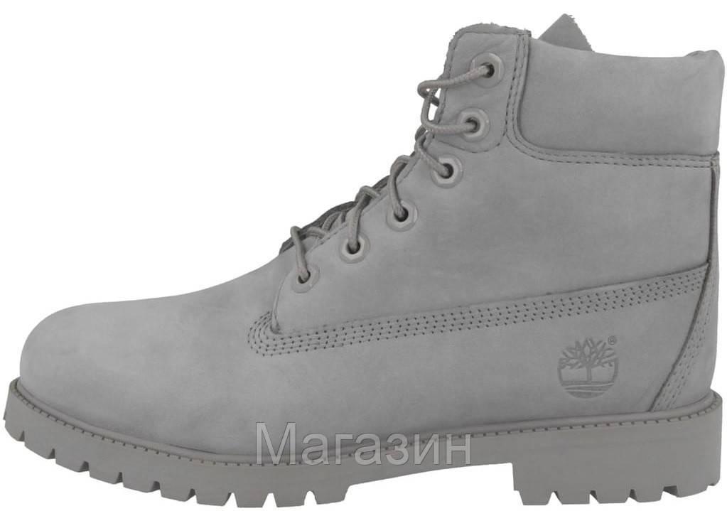 Мужские зимние ботинки Timberland 6-Inch Premium Winter Boots Grey зимние Тимберленд С МЕХОМ серые