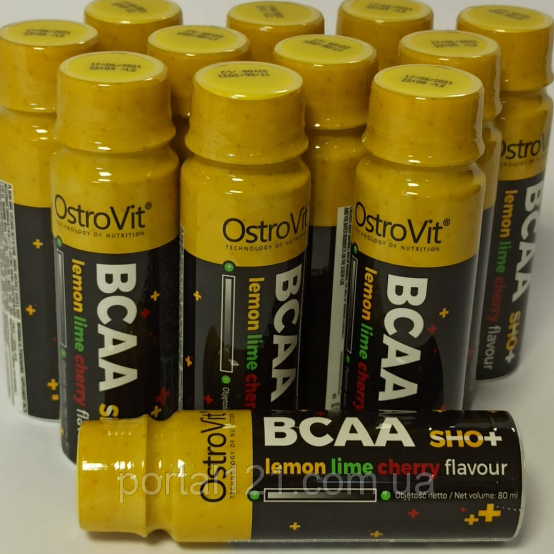 Аминокислота BCAA (бцаа) shot OstroVit 80 мл