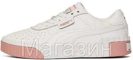 Женские кроссовки Puma Cali White (Пума Кали) белые, фото 2
