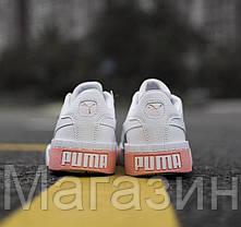 Женские кроссовки Puma Cali White (Пума Кали) белые, фото 3