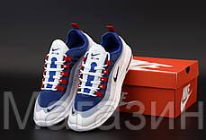 Мужские кроссовки Nike Air Max Axis White/Blue Найк Аир Макс Аксис белые синие, фото 2