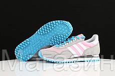 Женские кроссовки Adidas Originals ZX400 Grey Pink (Адидас ZX) серые, фото 2