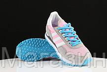 Женские кроссовки Adidas Originals ZX400 Grey Pink (Адидас ZX) серые, фото 3