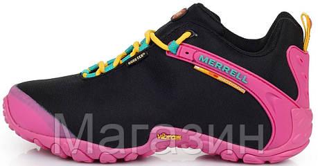 Женские кроссовки Merrell Continuum Gore-Tex Black Pink (Меррел) черные/розовые, фото 2