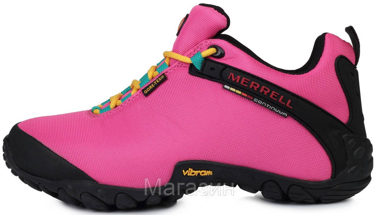 Женские кроссовки Merrell Continuum Gore-Tex Pink (Меррел) розовые
