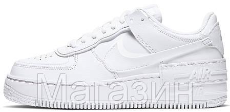 Женские кроссовки Nike Air Force 1 Low Shadow White Hайк Аир Форс низкие белые CI0919-100, фото 2