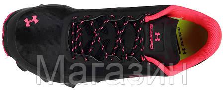 Женские спортивные кроссовки Under Armour Scorpio Black Pink (Андер Армор) черные/розовые, фото 2