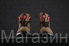 Мужские зимние кроссовки Nike Air Huarache High Top высокие Найк Аир Хуарачи зимние хаки, фото 3