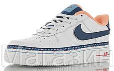 Женские кроссовки Nike Air Force 1 Low Swoosh Chain Pack White Найк Аир Форс низкие кожаные белые, фото 2