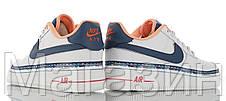 Женские кроссовки Nike Air Force 1 Low Swoosh Chain Pack White Найк Аир Форс низкие кожаные белые, фото 3