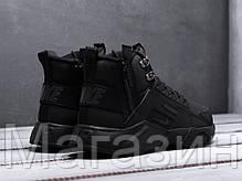 Мужские зимние кроссовки Nike Huarache Acronym Black высокие Найк Аир Хуарачи Акроним черные, фото 3