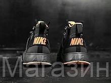 Мужские кроссовки ACRONYM x Nike Air Huarache CITY MID LEA Найк Аир Хуарачи Акроним черные, фото 2