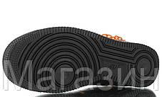 Мужские кроссовки Nike Air Force 1 Monogram Chain 2020 Найк Аир Форс 1 черные, фото 2