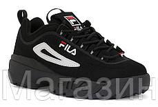 Женские кроссовки Fila Disruptor 2 Black (Фила Дисраптор 2) черные, фото 2