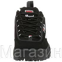 Женские кроссовки Fila Disruptor 2 Black (Фила Дисраптор 2) черные, фото 3