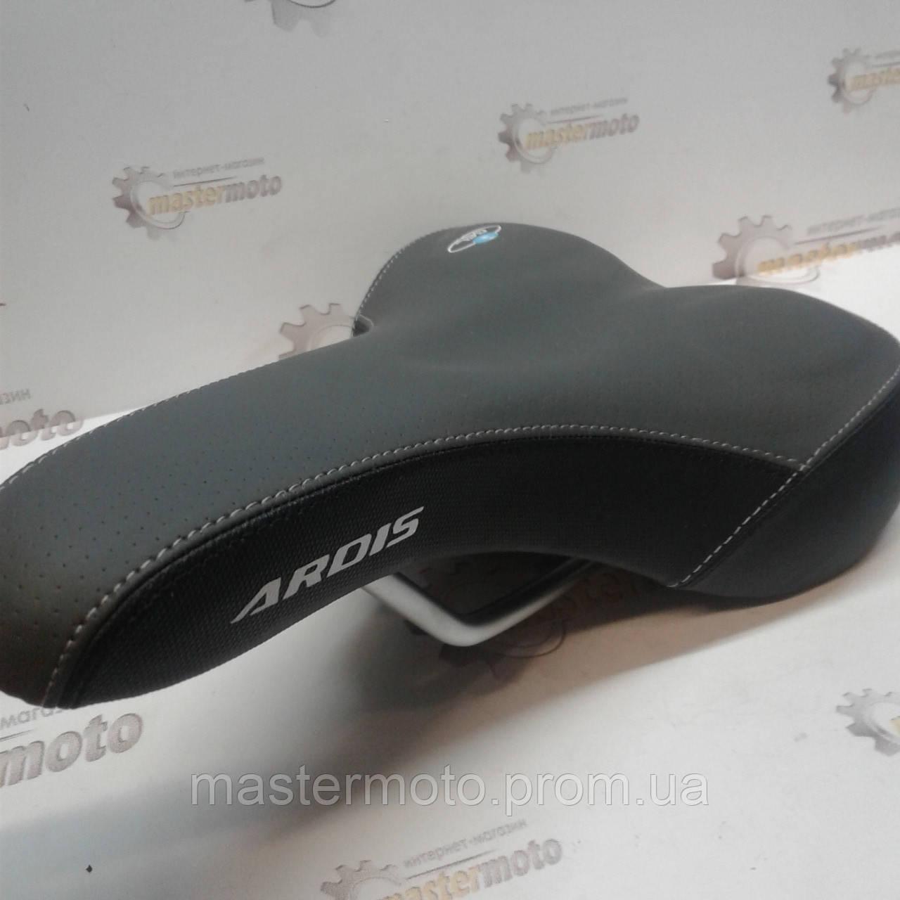 Сиденье велосипедное MTB с гелевыми вставками, черно-серое ARDIS