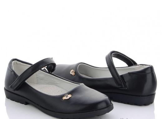 Туфли подросток черные M.L.V-FA 35-1