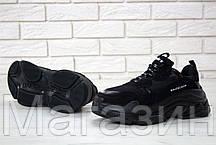 Женские кроссовки Balenciaga Triple S Black Баленсиага Трипл С черные, фото 2