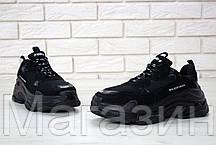 Женские кроссовки Balenciaga Triple S Black Баленсиага Трипл С черные, фото 3