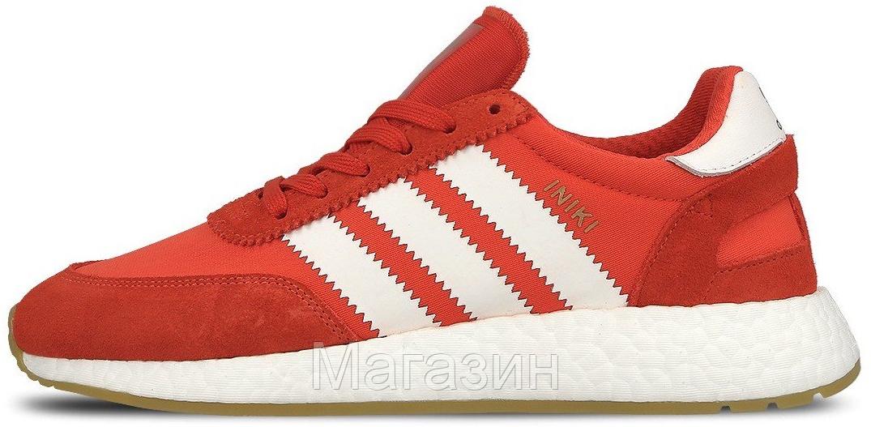Мужские спортивные кроссовки Adidas Iniki Runner Boost Red (Адидас Иники) красные