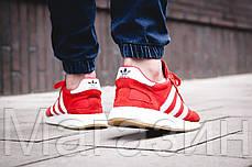 Мужские спортивные кроссовки Adidas Iniki Runner Boost Red (Адидас Иники) красные, фото 3
