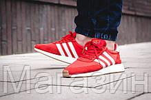 Мужские спортивные кроссовки Adidas Iniki Runner Boost Red (Адидас Иники) красные, фото 2