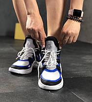 Женские кроссовки Louis Vuitton Archlight White/Black/Blue (в стиле Луи Витон) белые, фото 2