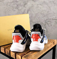 Женские кроссовки Louis Vuitton Archlight White/Black/Blue (в стиле Луи Витон) белые, фото 3
