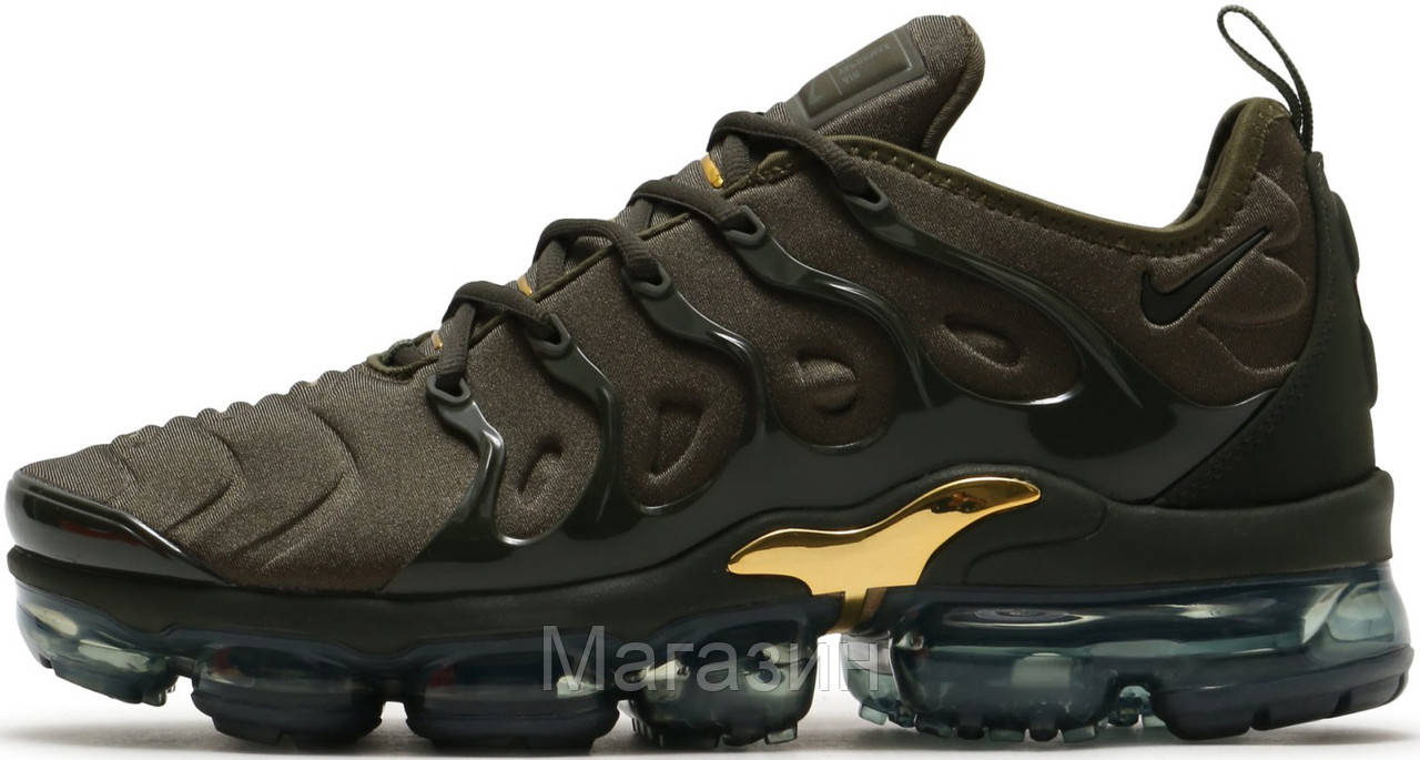Мужские кроссовки Nike Air VaporMax Plus Cargo Khaki Найк Вапормакс Плюс хаки