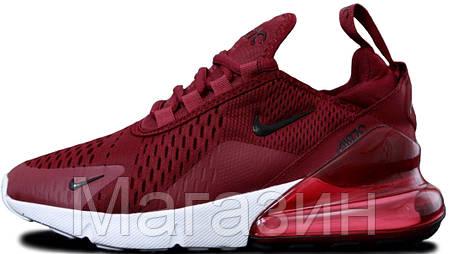 Женские кроссовки Nike Air Max 270 Burgundy (Найк Аир Макс 270) бордовые, фото 2