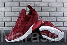 Женские кроссовки Nike Air Max 270 Burgundy (Найк Аир Макс 270) бордовые, фото 3