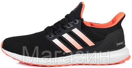 Мужские кроссовки Adidas Ultra Boost Black (Адидас Ультра Буст) черные, фото 2