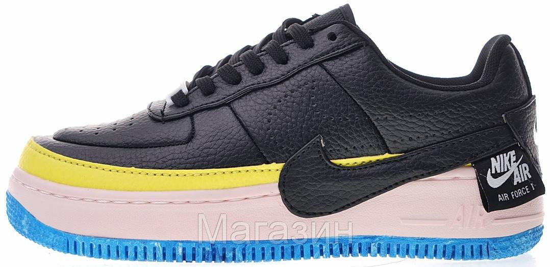 "Женские кроссовки Nike Air Force 1 Jester XX SE ""Black-Sonic Yellow"" Найк Аир Форс черные"