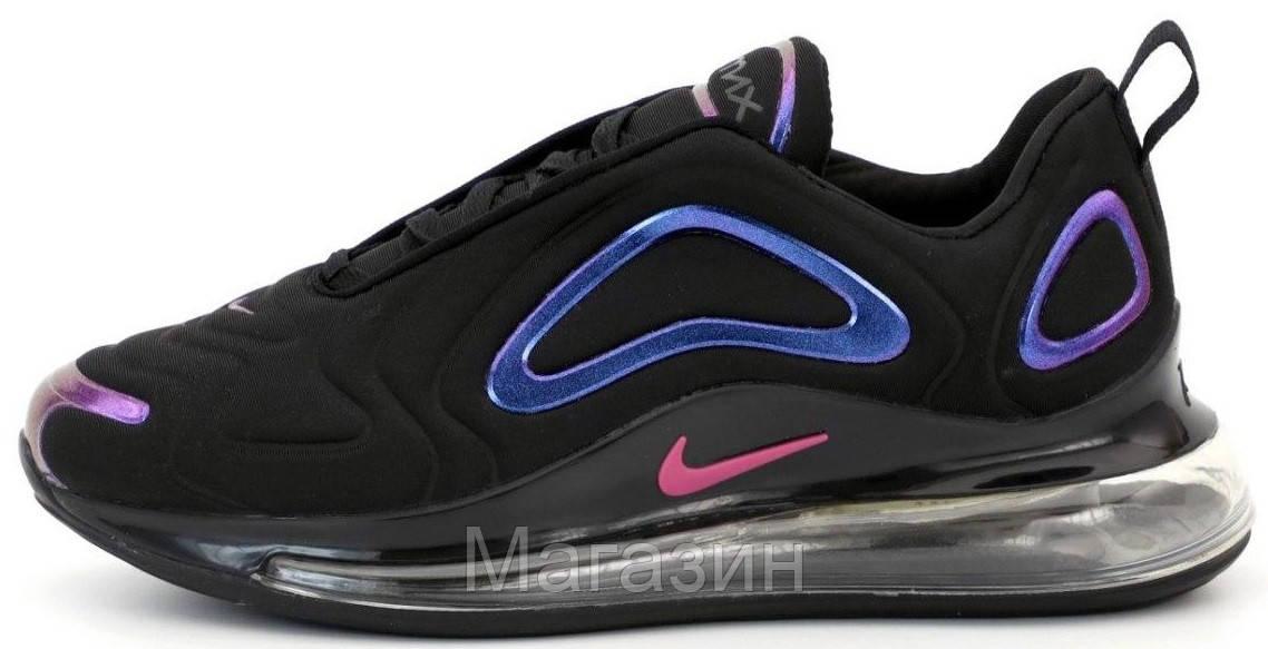 Мужские спортивные кроссовки Nike Air Max 720 Black (Найк Аир Макс 720) черные