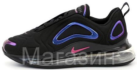 Мужские спортивные кроссовки Nike Air Max 720 Black (Найк Аир Макс 720) черные, фото 2