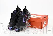 Мужские спортивные кроссовки Nike Air Max 720 Black (Найк Аир Макс 720) черные, фото 3