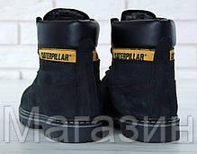 Женские зимние ботинки Caterpillar Colorado Winter Boots Black Катерпиллер Колорадо черные с мехом, фото 3