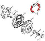 Колодки тормозные задние с ABS Geely CK/CK2 (улучшенные), фото 2