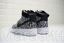 Мужские кроссовки Nike Air Force 1 High Just Do It Pack Black Найк Аир Форс 1 черные, фото 3