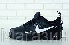 """Кроссовки Nike Air Force 1 '07 LV8 Utility """"Black"""" AJ7747-001 (Hайк Аир Форс низкие) черные, фото 3"""