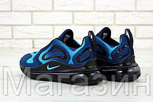 Мужские кроссовки Nike Air Max 720 Blue / Black (спортивные Найк Аир Макс 720) синие с черным, фото 2