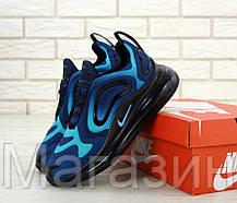 Мужские кроссовки Nike Air Max 720 Blue / Black (спортивные Найк Аир Макс 720) синие с черным, фото 3