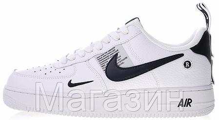 "Женские кроссовки Nike Air Force 1 '07 LV8 Utility ""White"" (Hайк Аир Форс низкие) белые, фото 2"