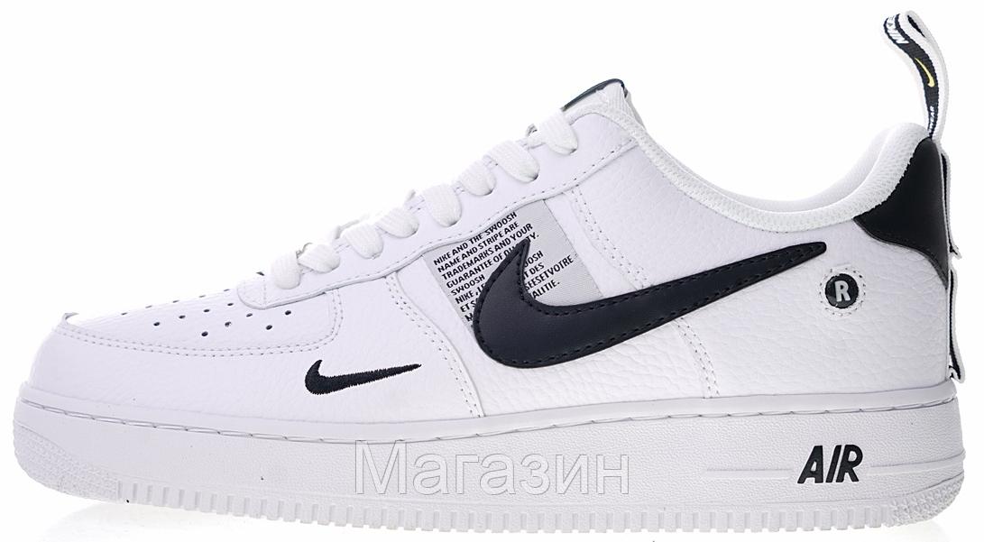 "Женские кроссовки Nike Air Force 1 '07 LV8 Utility ""White"" (Hайк Аир Форс низкие) белые"
