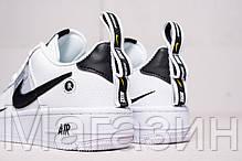 "Женские кроссовки Nike Air Force 1 '07 LV8 Utility ""White"" (Hайк Аир Форс низкие) белые, фото 3"