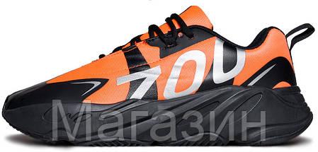 """Мужские кроссовки adidas Yeezy Boost 700 VX """"Orange"""" (Адидас Изи Буст 700) оранжевые, фото 2"""
