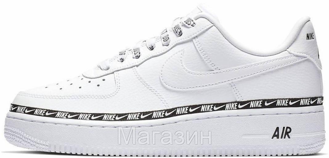 "Мужские кроссовки Nike Air Force 1 '07 SE Premium ""White"" (Найк Аир Форс низкие) белые"