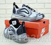 Мужские спортивные кроссовки Nike Air Max 720 Grey (Найк Аир Макс 720) серые, фото 3
